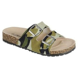Forever Link Shoes - Camo 2 buckle Slide Sandal